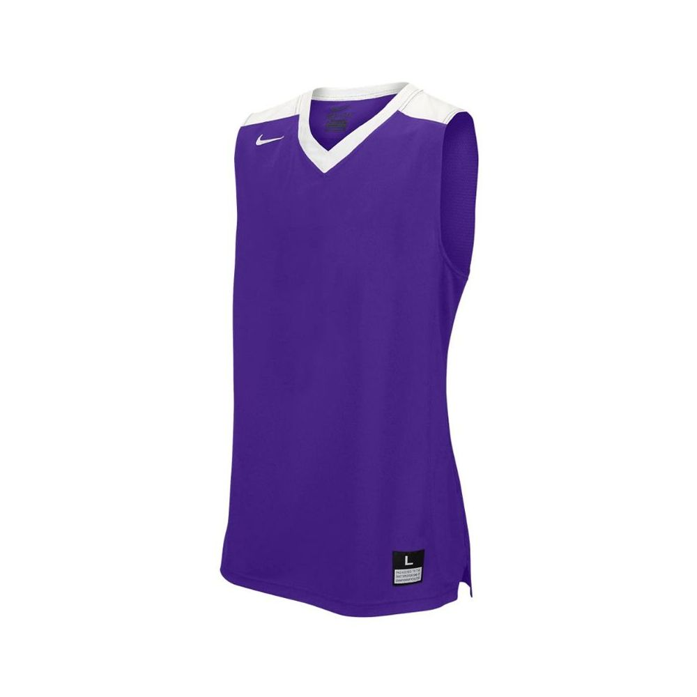 Nike Elite Franchise Jersey - Violet & Blanc