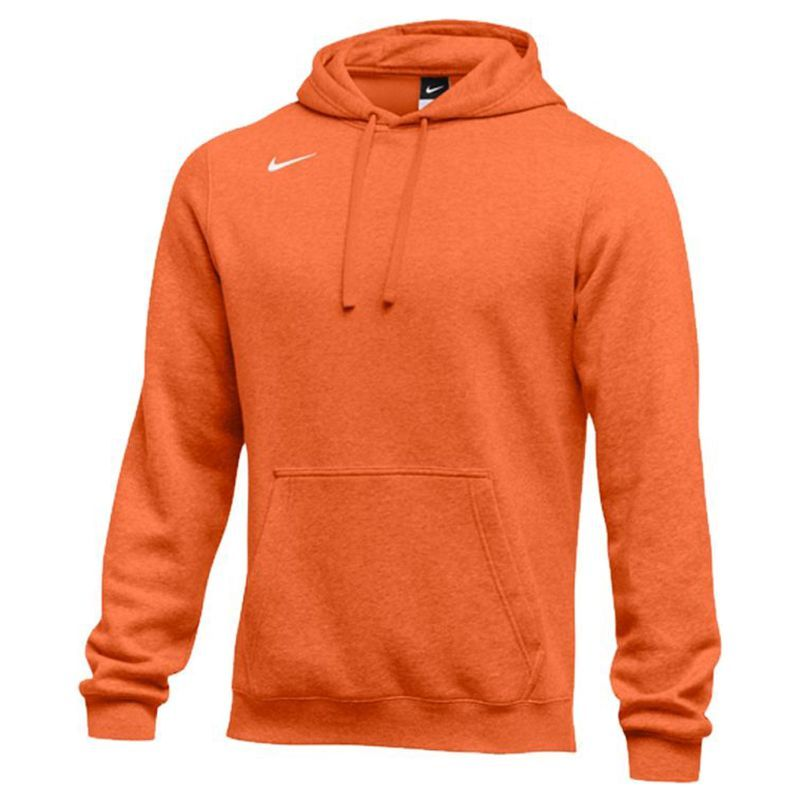 Nike Club Fleece Pullover  Hoody - Orange