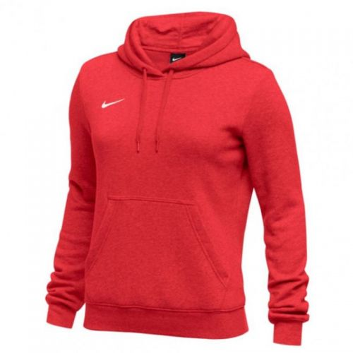 Nike Club Fleece Pullover  Hoody Femme - Rouge