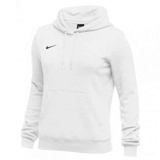 Nike Club Fleece Pullover Hoody Femme - Blanc