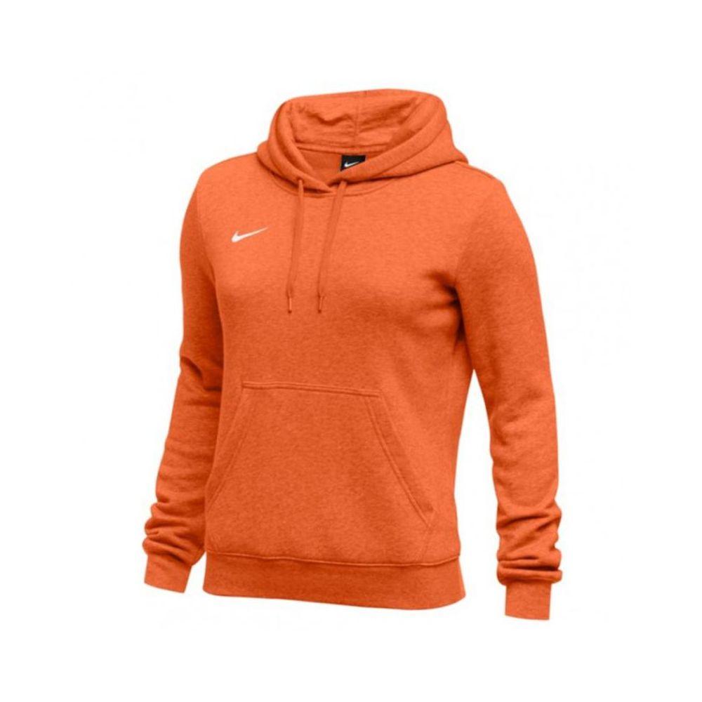 Nike Club Fleece Pullover  Hoody Femme - Orange