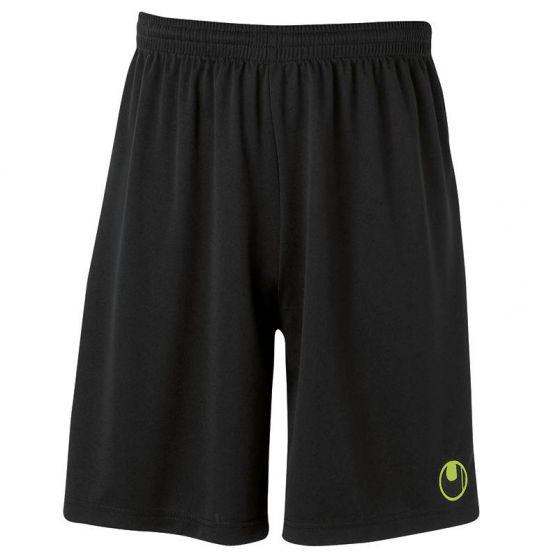 Uhlsport Center Basic II Shorts - Noir & Vert Flash