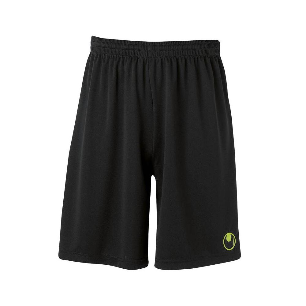 Uhlsport Center Basic II Shorts - Noir & Vert Flash