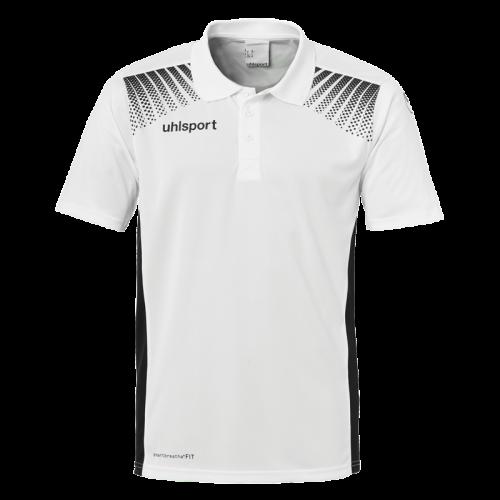 Uhlsport Goal Polo Shirt - Blanc & Noir