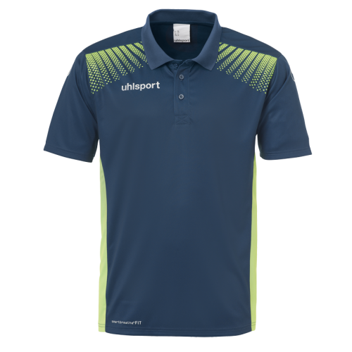 Uhlsport Goal Polo Shirt - Pétrole & Vert Flash