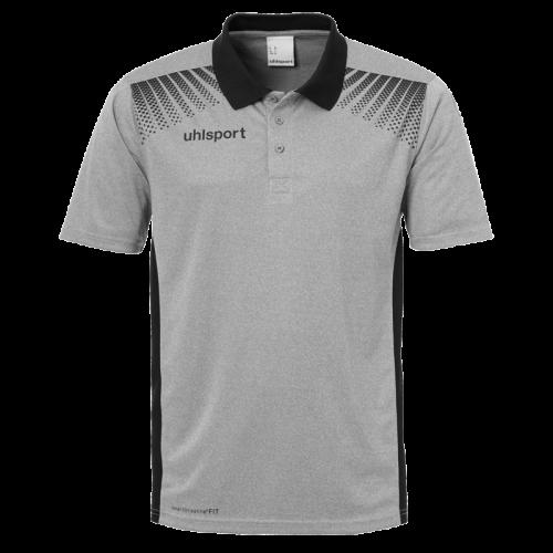 Uhlsport Goal Polo Shirt - Gris Chiné & Noir