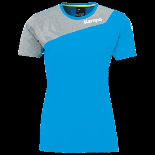 Kempa Core 2.0 Shirt Femme - Bleu Kempa & Gris