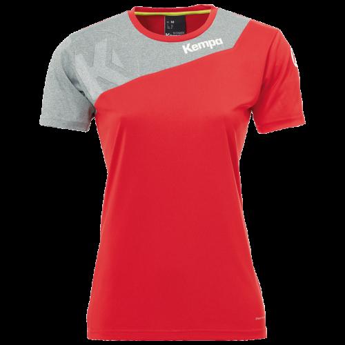 Kempa Core 2.0 Shirt Femme - Rouge & Gris