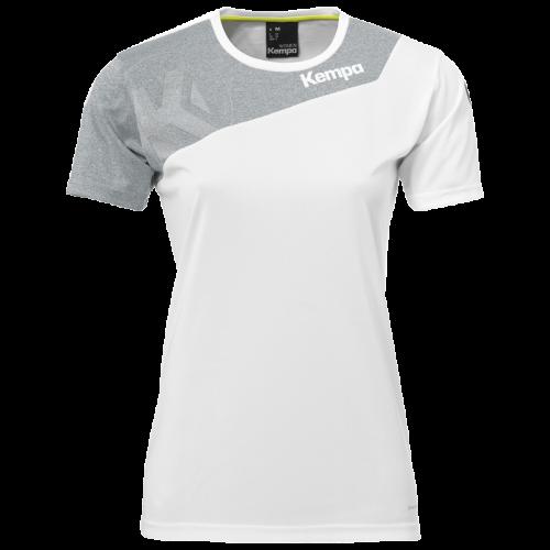Kempa Core 2.0 Shirt Femme - Blanc & Gris