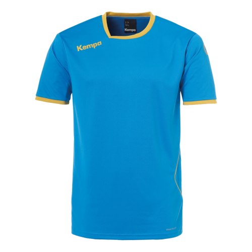 Kempa Curve Shirt - Bleu Kempa & Or