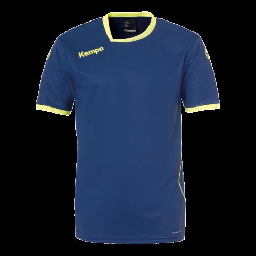 Kempa Curve Shirt -  Bleu & Jaune Fluo