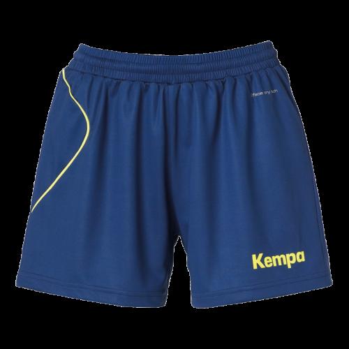 Kempa Curve Women Shorts - Bleu & Jaune