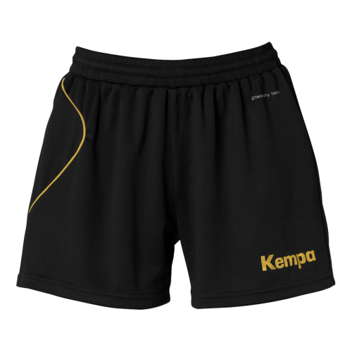 Kempa Curve Women Shorts - Noir & Or