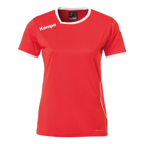 Kempa Curve Women Shirt - Rouge & Blanc