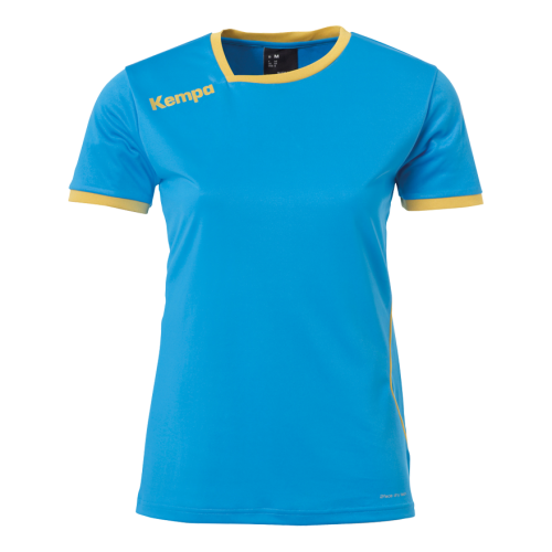 Kempa Curve Women Shirt - Bleu Kempa & Or