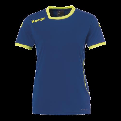 Kempa Curve Women Shirt - Bleu & Jaune Fluo