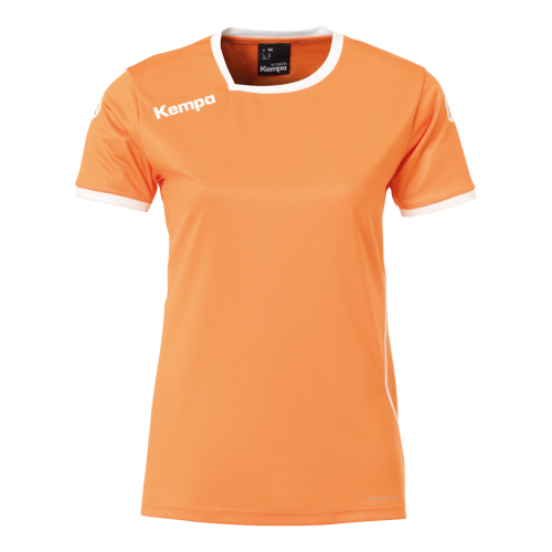Kempa Curve Women Shirt - Orange & Blanc