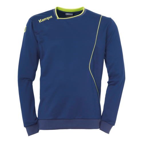Kempa Curve Training Top - Bleu & Jaune Fluo