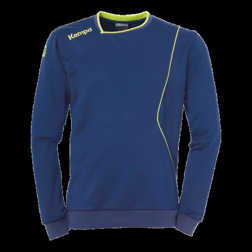 Kempa Curve Training Top - Bleu & Jaune Fluo