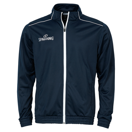 Spalding Team Warm Up Jacket - Marine & Blanc