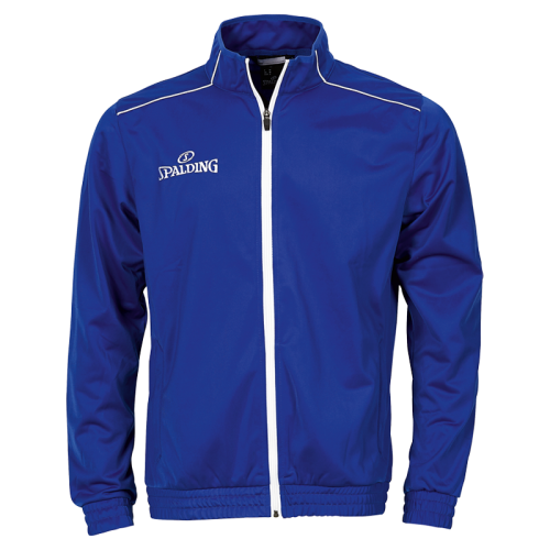 Spalding Team Warm Up Jacket - Royal & Blanc
