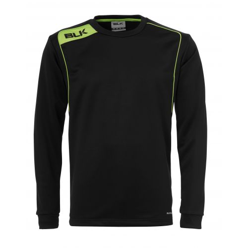 BLK Round Neck Sweater - Noir & Vert Flash
