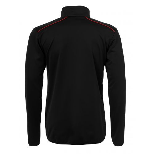 BLK Top 1/4 Zip - Noir & Rouge