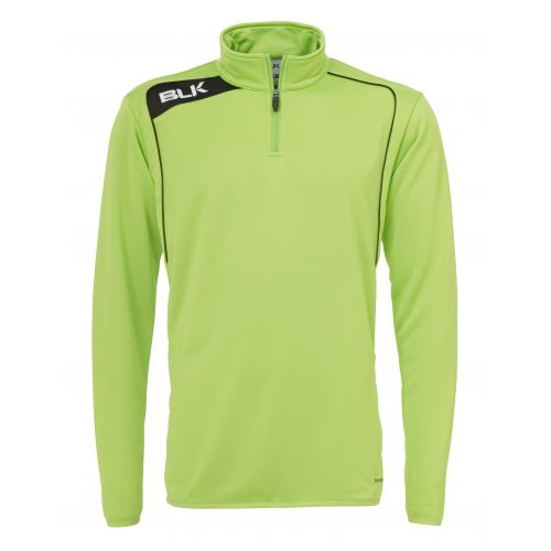 BLK Top 1/4 Zip - Vert Flash & Noir
