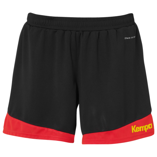 Kempa Emotion 2.0 Femme Shorts - Noir & Rouge