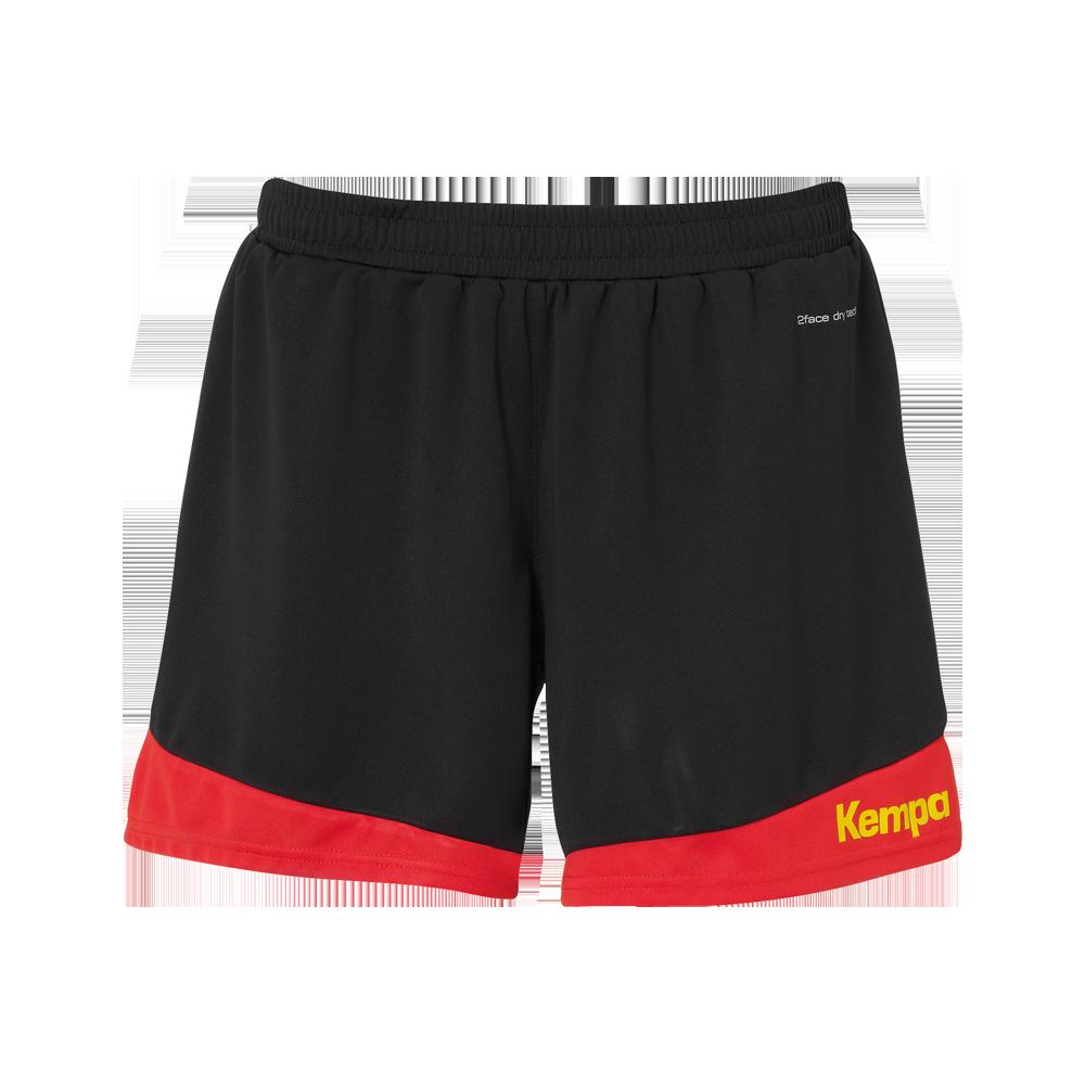 74b67bf84c3 Kempa Emotion 2.0 Femme Shorts - Noir   Rouge - Sport-Clique.fr
