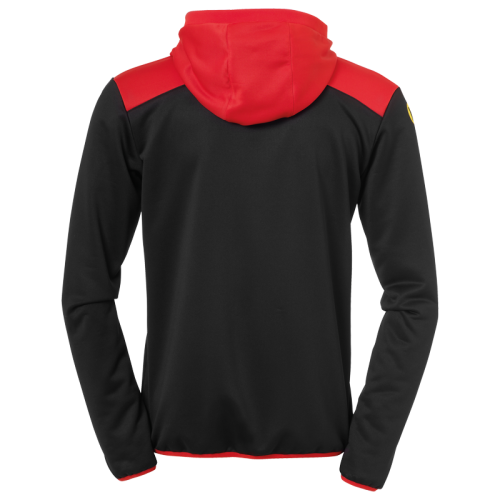 Kempa Emotion 2.0 Quarter Zip Hoody - Noir & Rouge
