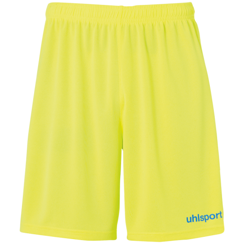 Uhlsport Center Basic Shorts - Jaune Fluo & Radar Bleu