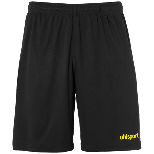 Uhlsport Center Basic Shorts - Noir & Jaune Citron