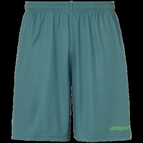 Uhlsport Center Basic Shorts - Vert Sapin & Vert Fluo