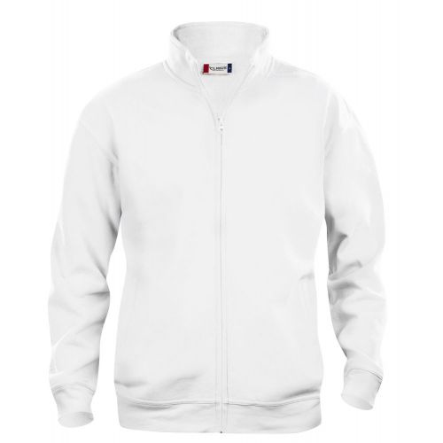 Sweat Zippé Basic - Blanc
