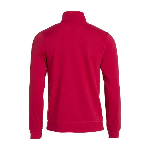 Sweat Zippé Basic - Rouge