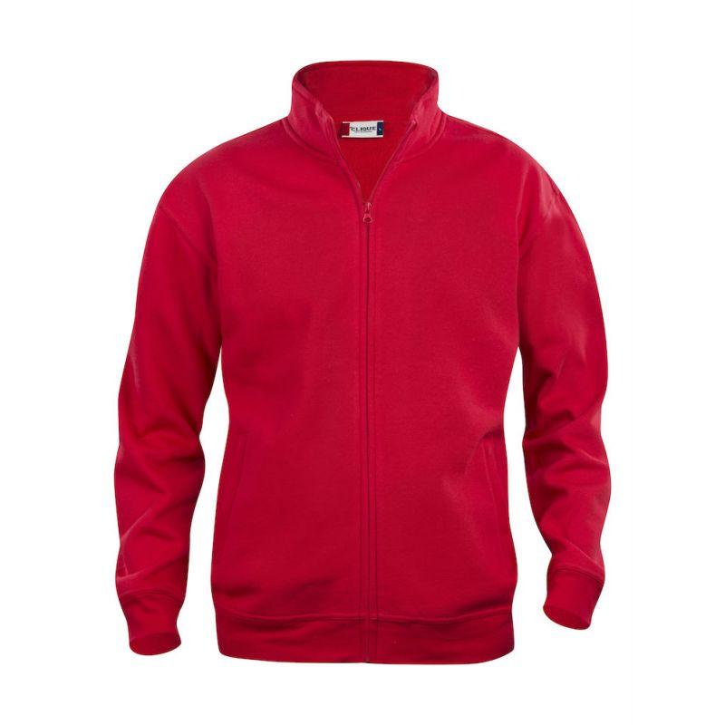 Sweat Zippé Basic Rouge