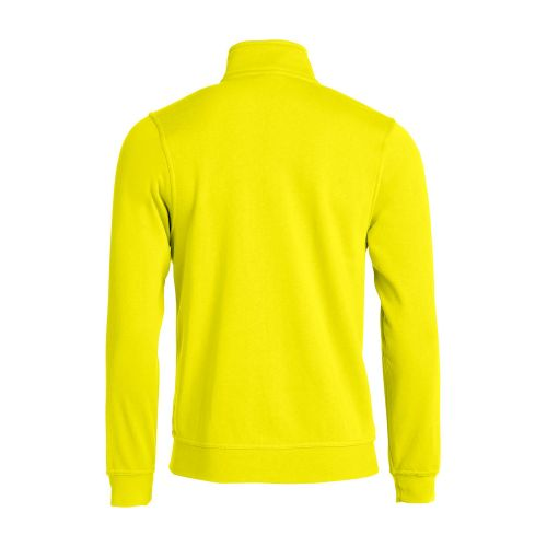 Sweat Zippé Basic - Jaune Fluo