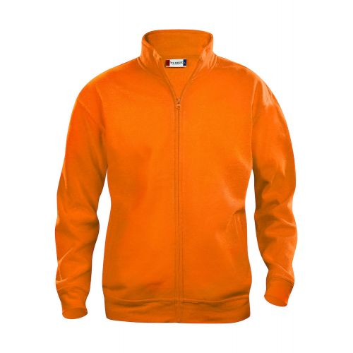 Sweat Zippé Basic - Orange Fluo