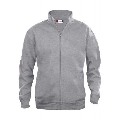 Sweat Zippé Basic - Gris Chiné