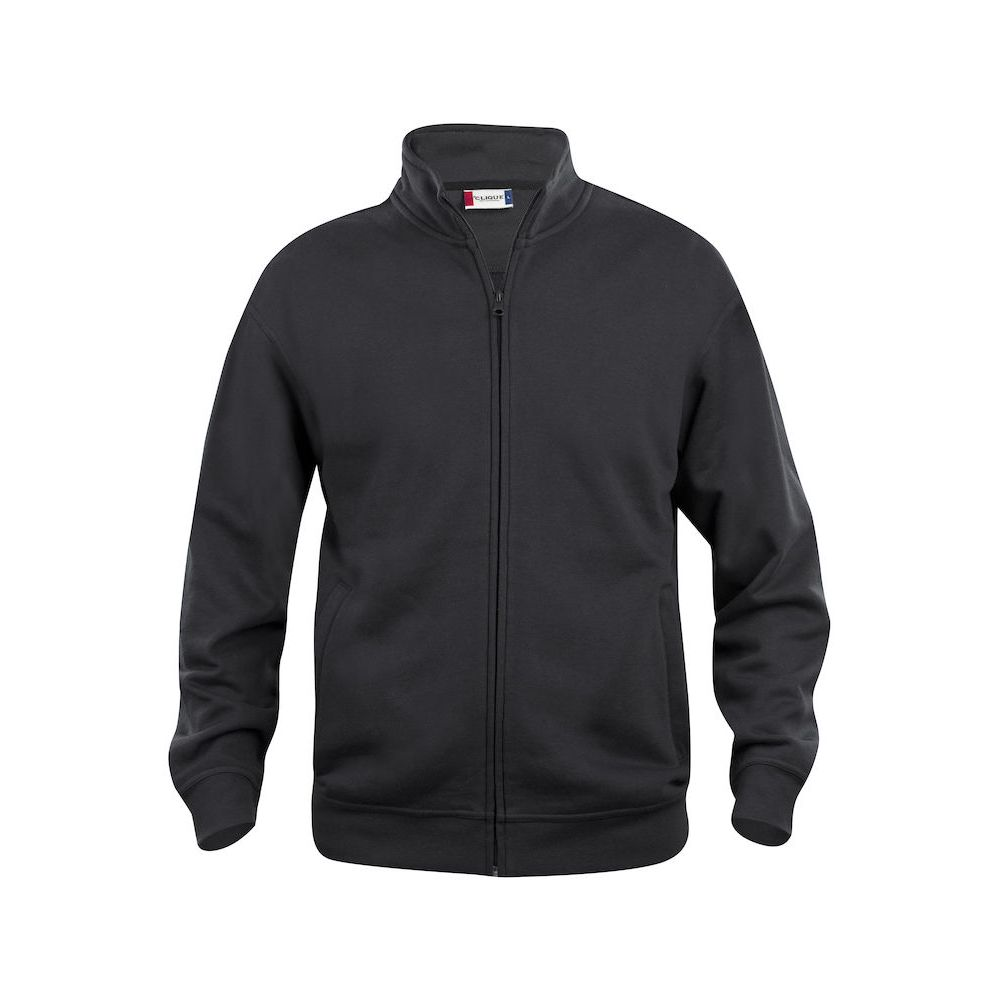 Sweat Zippé Basic - Noir
