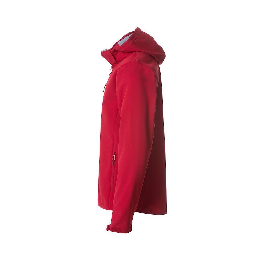 Veste Softshell à Capuche - Rouge