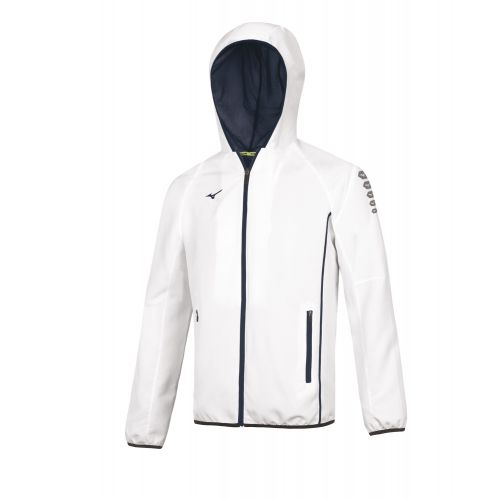 Mizuno Nagasaki Micro Jacket Femme - Blanc & Marine