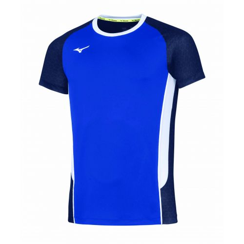 Mizuno Premium High-Kyu Tee - Royal & Blanc