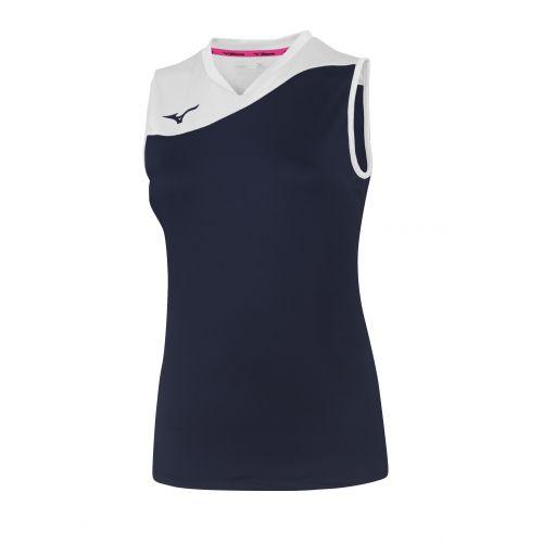 Mizuno Authentic Myou NS Shirt - Femme - Marine & Blanc