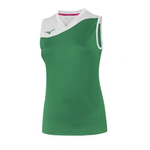 Mizuno Authentic Myou NS Shirt - Femme - Vert & Blanc
