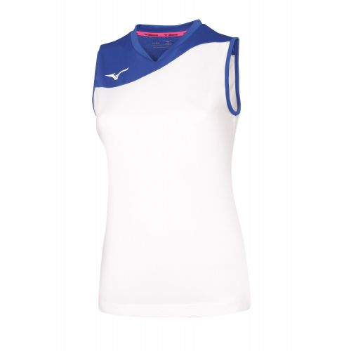 Mizuno Authentic Myou NS Shirt - Femme - Blanc & Royal