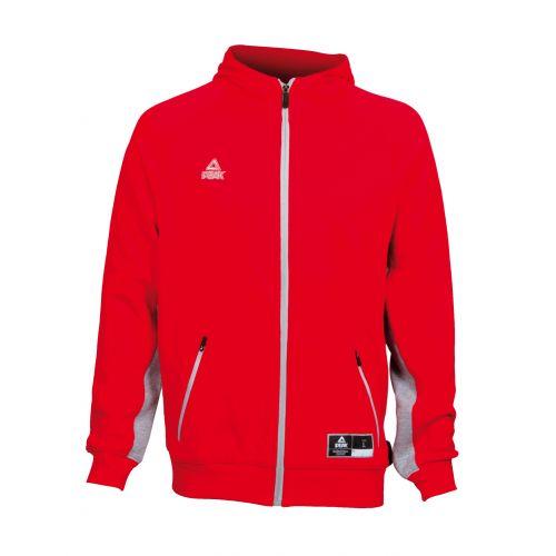 Peak  Zip Sweater Elite Rouge