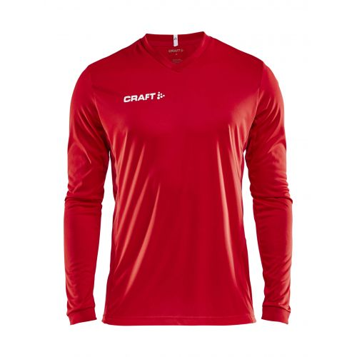 Craft Squad Jersey Solid LS - Rouge