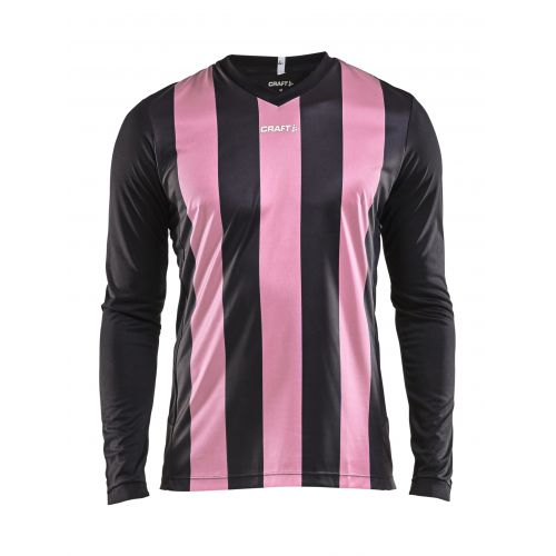 Craft Progress Jersey Stripe LS - Noir & Rose